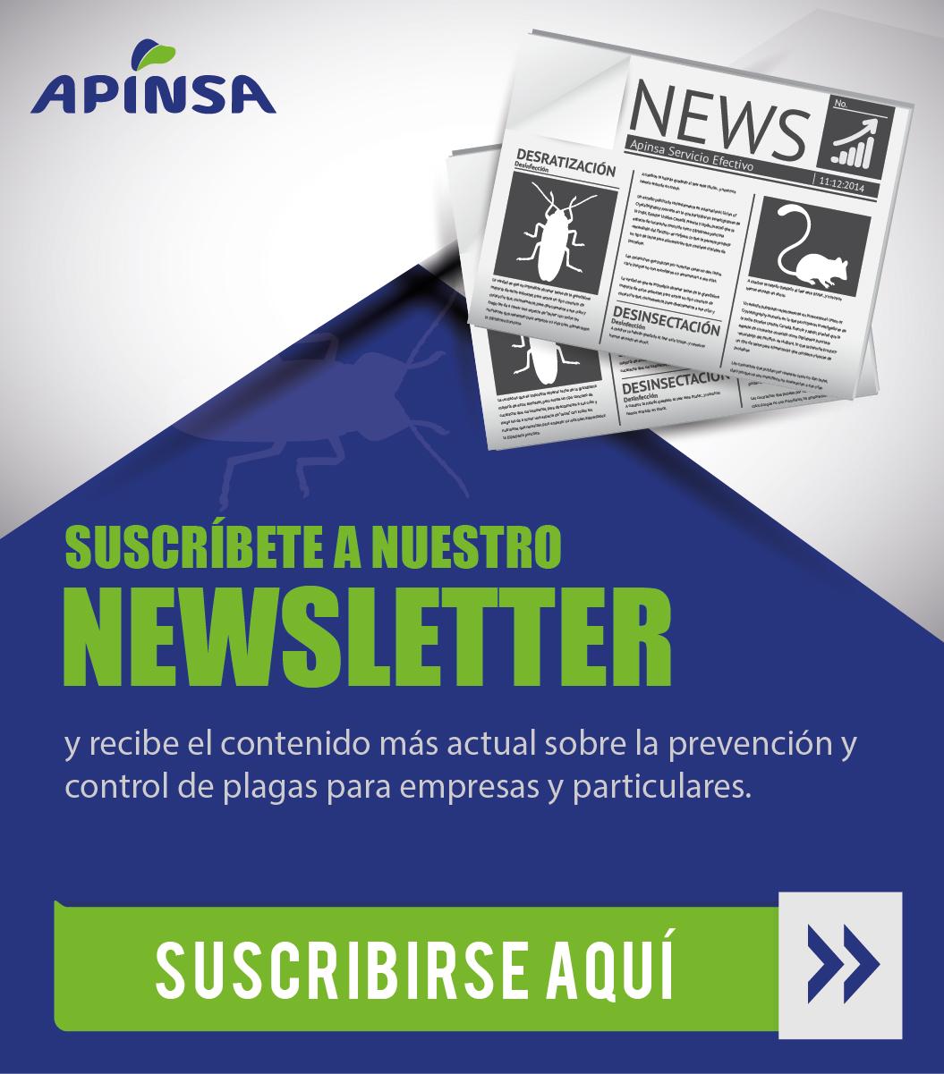 Suscribase al newsletter sobre control de plagas más actual
